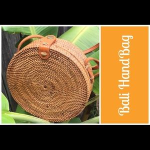 """Bali Bag-Holds Cell Phone! 8"""" Woven Rattan🌴"""